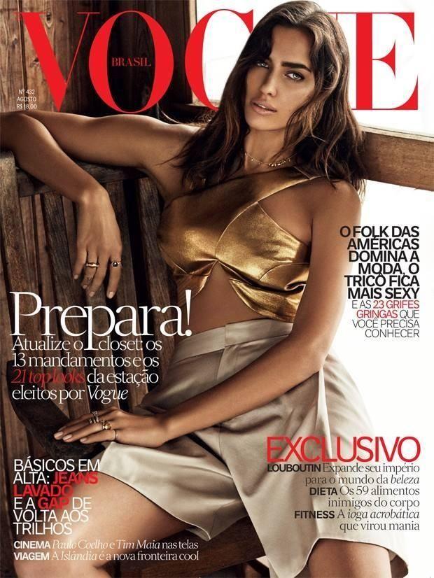 Vogue Brasil August 2014 Cover (Vogue Brasil)