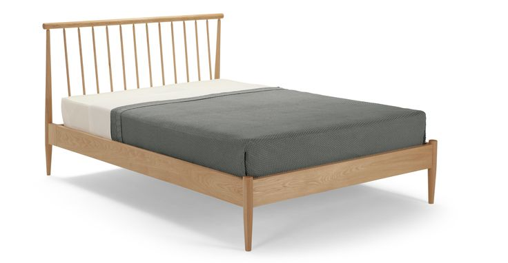 Penn Double Bed, Oak