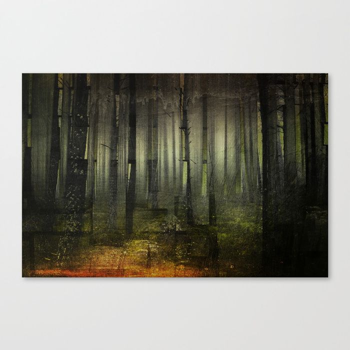 Why am I here Canvas Print by HappyMelvin. #nature #darkforest #forests #original #wallart #walldecor #canvasprint