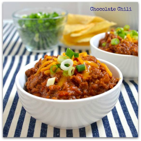chocolate chili | Chili & Meatloaf | Pinterest
