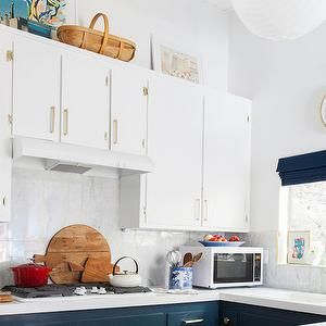 Navy Blue Kitchen Cabinets Eclectic Farrow And Ball Hague Emily