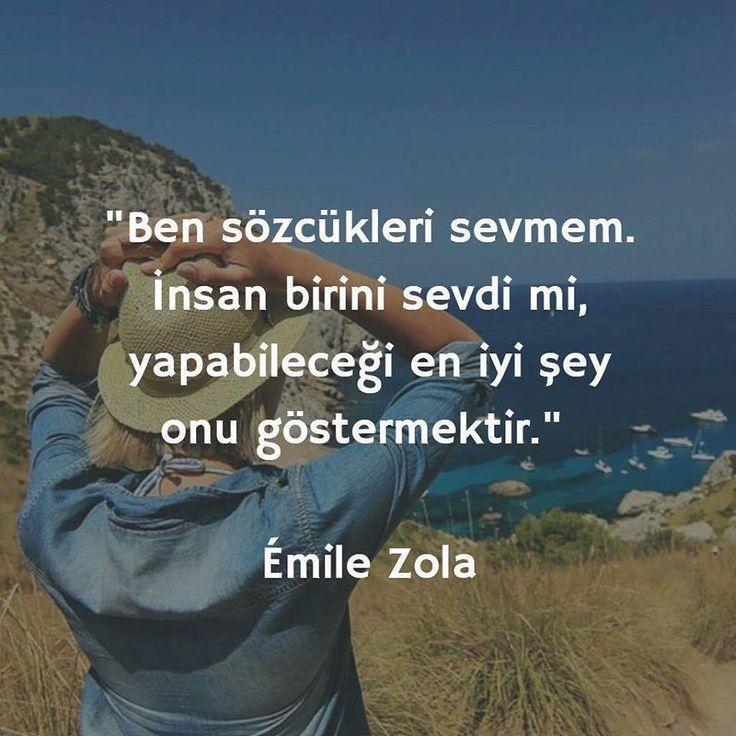 Ben sözcükleri sevmem. İnsan birini sevdi mi, yapabileceği en iyi şey onu göstermektir. - Émile Zola (Kaynak: Instagram - tilkikitap) #sözler #anlamlısözler #güzelsözler #manalısözler #özlüsözler #alıntı #alıntılar #alıntıdır #alıntısözler #şiir #edebiyat