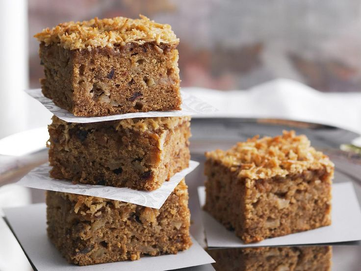 An old-fashioned apple and date cake topped with caramelised coconut, lumberjack cake is dense, moist and packed with enough energy to get the proverbial lumberjack through from morning tea to lunch.