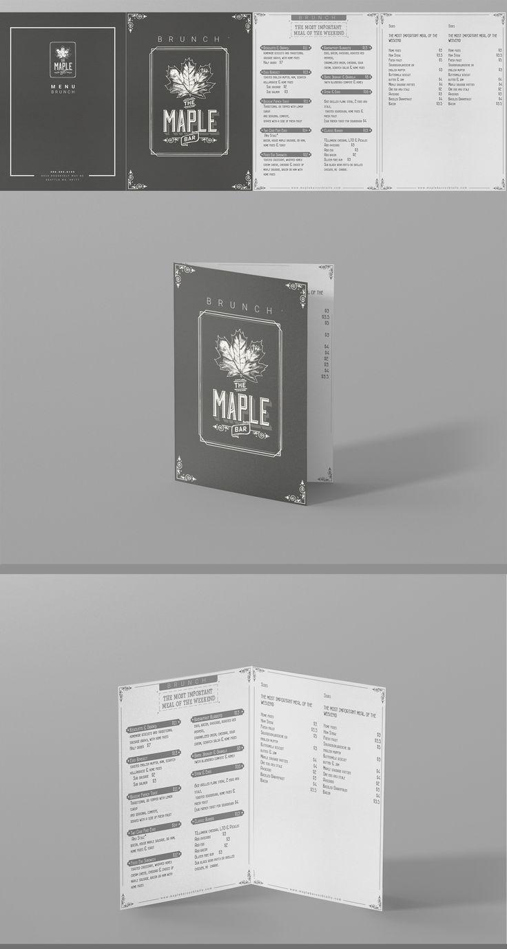 Designs | Maple Bar Menu | Menu contest