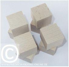 Holzbausteine der Spielgabe 3 nach Froebel - Schoenheitsform