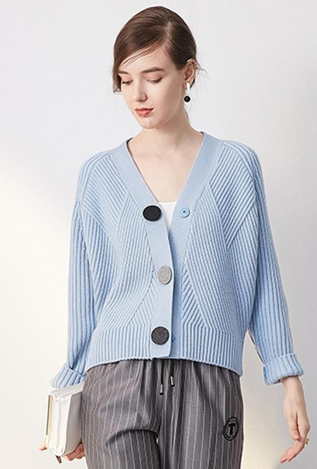 Retro Three Button Knit Cardigan TP1510
