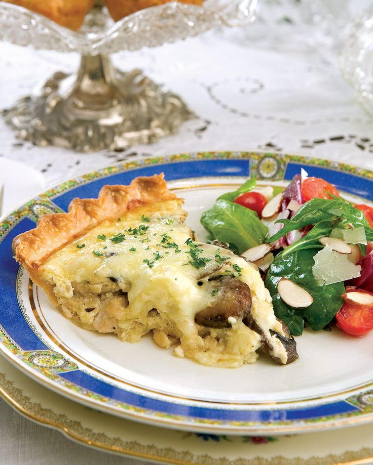 Chicken, Mushroom & Swiss Cheese Quiche