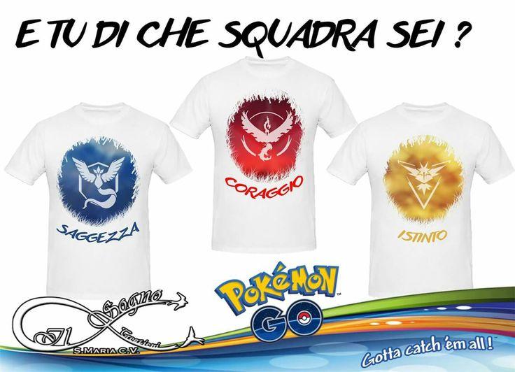 #Pokemongo E tu di che squadra sei? #SAGGEZZA #CORAGGIO #ISTINTO  mostralo con le nostre #tshirt. #personalizza le tue #tshirt come vuoi tu! <3 #grafiche, #foto, #frasi divertenti....da noi nessun limite alla fantasia!  #ilsognocreazioni