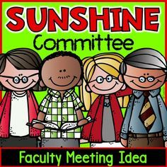 Faculty Meeting: Sunshine Committee Idea: organizing door prizes for faculty meetings.
