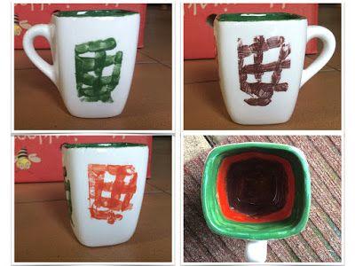 Fingerprint art on a mug