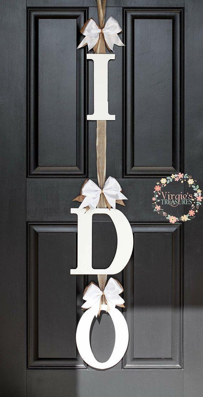I DO Bridal Shower Door Decoration-I DO Door Hanger-Wedding Keepsake-Bride & Gro… – Bridal shower