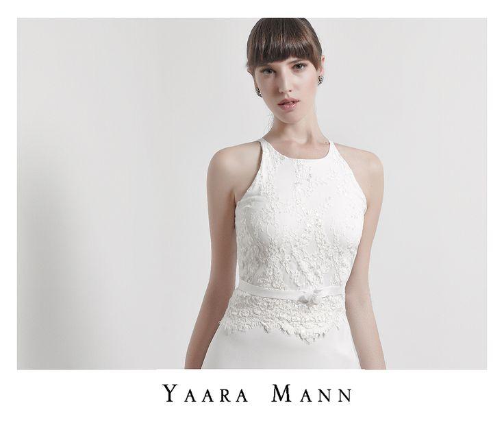 """Opale"" wedding dress from Yaara Mann's collection 2014 www.yaaramann.com"