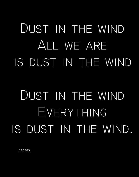 dust in the wind lyrics pdf