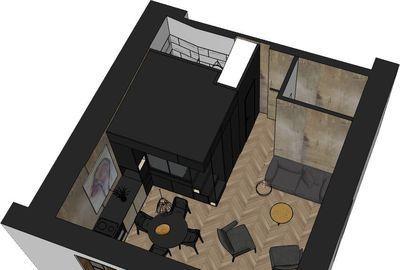 Le plan de l'appartement d'Arnaud après travaux