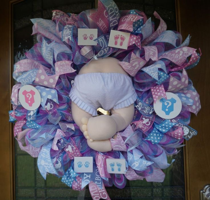 Home Quirks Differences In Decorating By Gender An: 1000+ Ideas About Baby Shower Wreaths On Pinterest