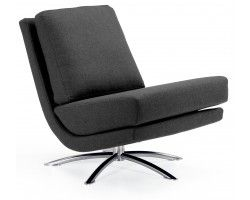 Fjords Breeze Swivel Chair in Lava Grey Fabric