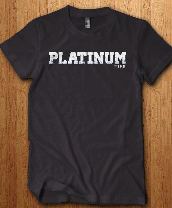 Platinum Tier Shirt Lol Tee League Shirt Dota Wow PC Gamer