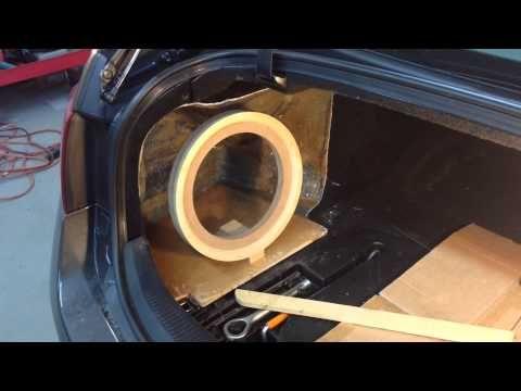 [EASY] How to fibreglass / fiberglass a subwoofer enclosure - YouTube