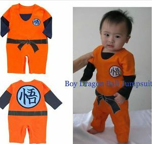 Long Sleeves Dragonball Z Son Goku Kungfu Baby Bodysuit Party Costume Dress | eBay