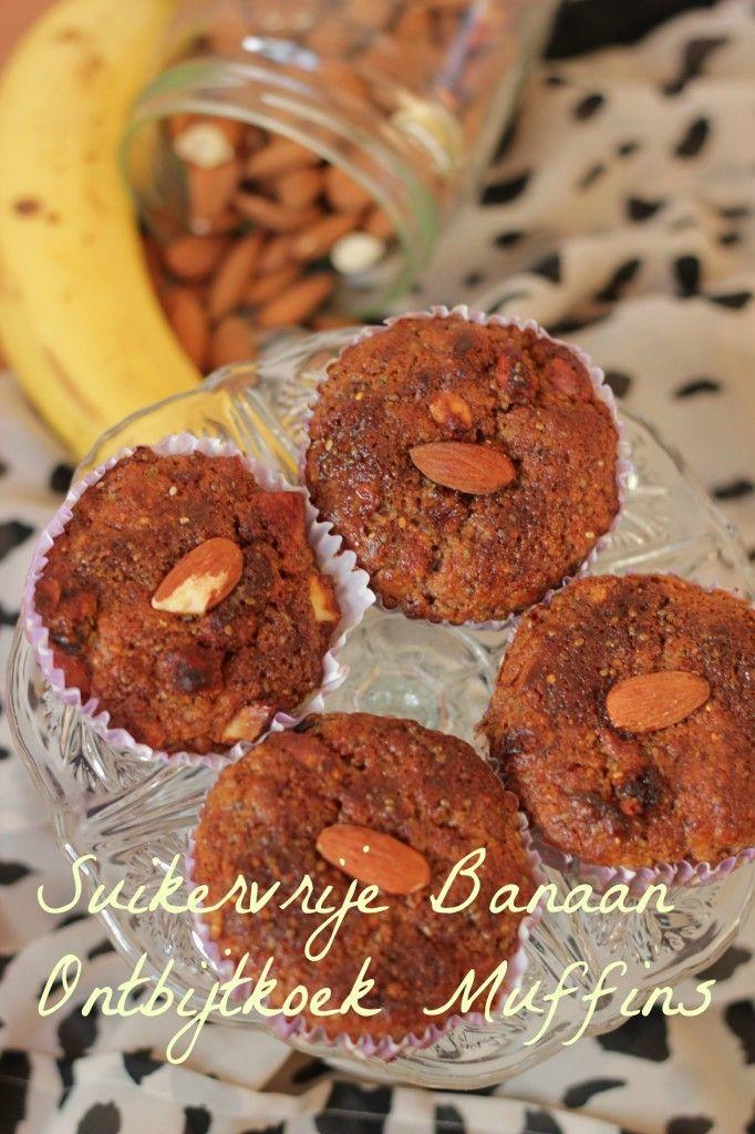 Suikervrije Banaan Ontbijtkoek Muffins