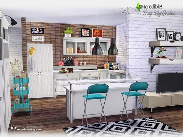 17 Best images about Kitchens on Pinterest | The sims, Sims 4 and ...