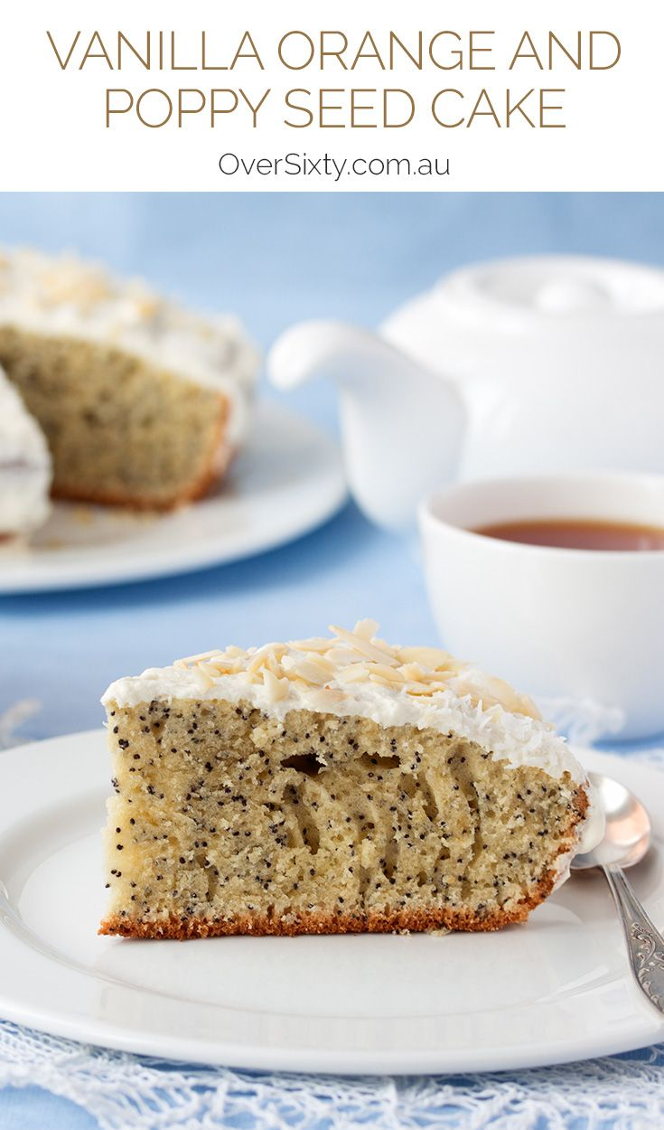 Vanilla Orange and Poppy Seed Cake - This classic poppy seed cake is made even more delicious by the addition of orange and vanilla icing.