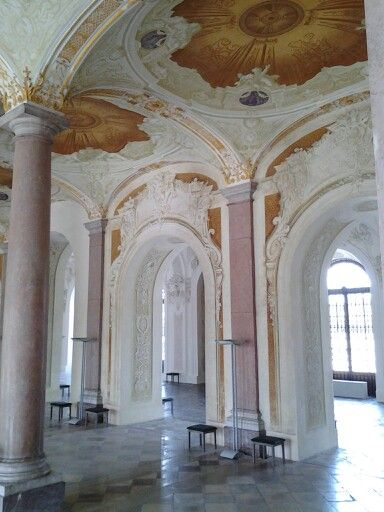 """Extremely impressive entry hall to Schleissheim Palace between city of Munich & airport via the #1 SBahn. The 15 minute walk from station was well worth the effort. It's a """"must see"""" place."""