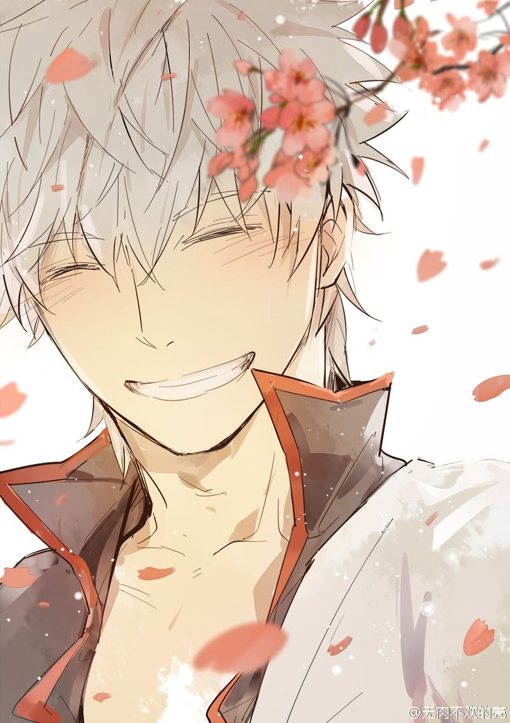 Gintama Gintoki! This fan art made me smile :)