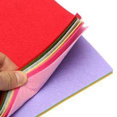 10 Цветов 2 мм Толстый нетканый Войлока Листов Дети DIY AssortedFabric Площадь…