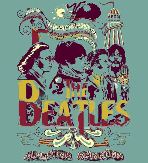 T-Shirt The Beatles - Helter Skelter  www.reverbcity.com