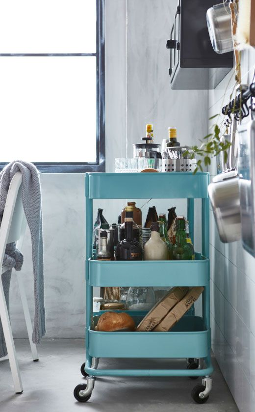 Kitchen drawers and cabinets starting to overflow? Utility carts must be the easiest storage upgrade of all. They need hardly any room and can be wheeled to wherever you need them.