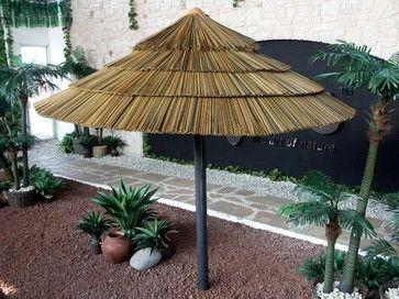 Thatch Umbrella   Synthetic   Tropical   Outdoor Umbrellas   Miami    AMAZULU INC