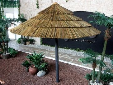 Thatch Umbrella - Synthetic - tropical - outdoor umbrellas - miami - AMAZULU INC