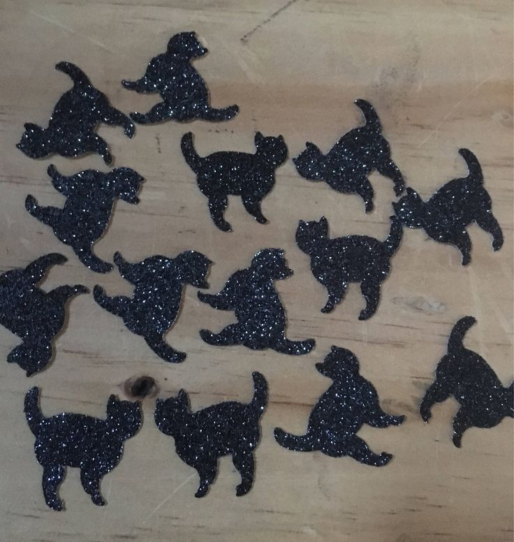 A personal favourite from my Etsy shop https://www.etsy.com/au/listing/548763781/glitter-black-cat-scatters-table