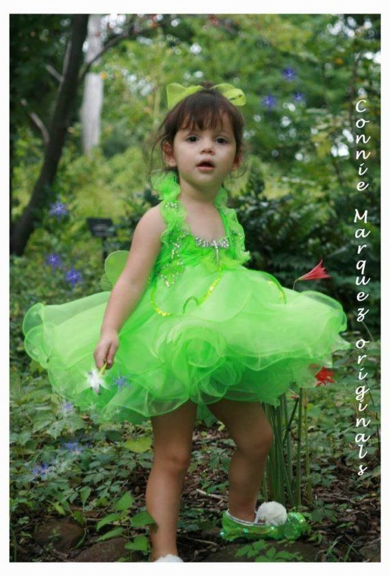 Custom Tinkerbell Dress Birthday Costume Pageant by ConnieLMarquez