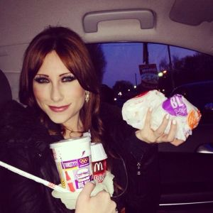 On the way to perform at the Make A Wish Foundation Ball. Two double cheeseburgers, a Mc Flurry and a chocolate milkshake. Standard.