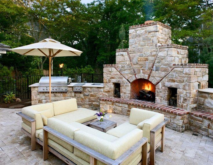 Best BBQ Images On Pinterest Garden Ideas Backyard Ideas And - Design ideas for backyard bbq patios