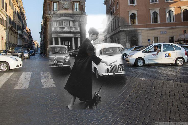 La Hepburn a passeggio.