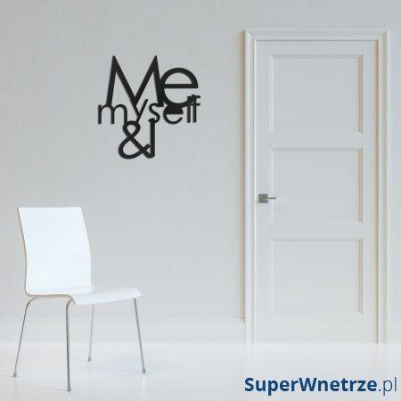 Napis na ścianę DekoSign ME MYSELF & I czarny MMI1-1
