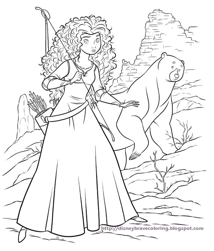 yeah for brave coloring pages free disney coloring pages