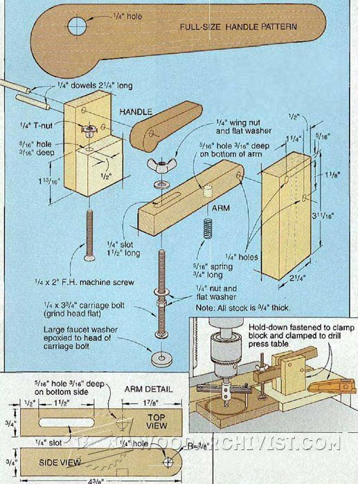 Diy toggle clamp and clamping tips jigs