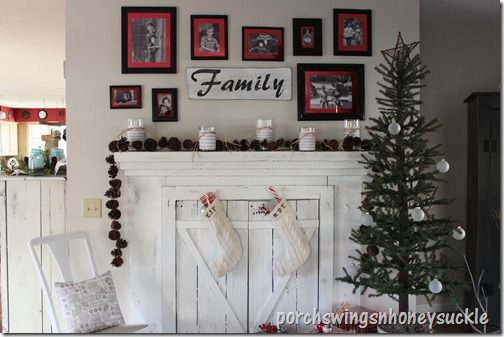 Could put barn doors on fake Fireplace Mantle