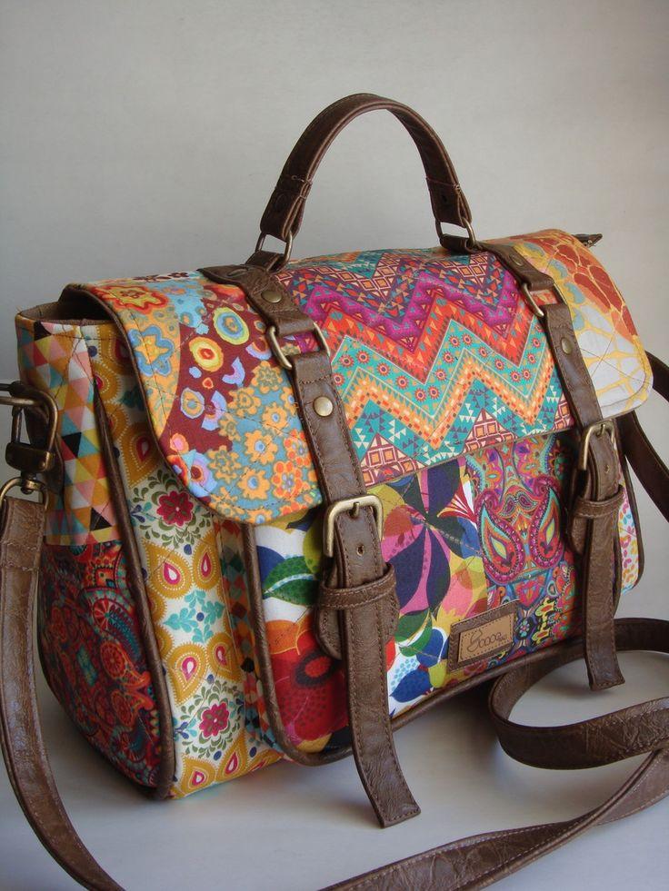 Bolsa De Tecido Feita Com Nós : Melhores ideias sobre bolsa de carteiro no