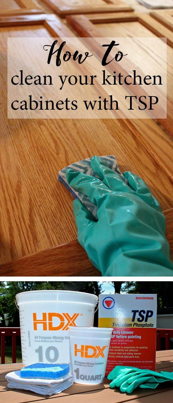 How To Clean Your Kitchen Cabinets With Tsp Cleaning Hacks