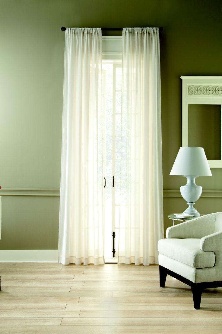 MarthaWindow flutter rod-pocket sheer panel curtains