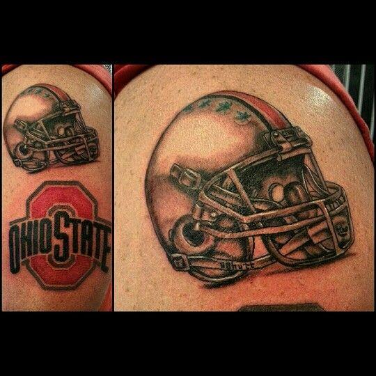Ohio state football fan tattoo