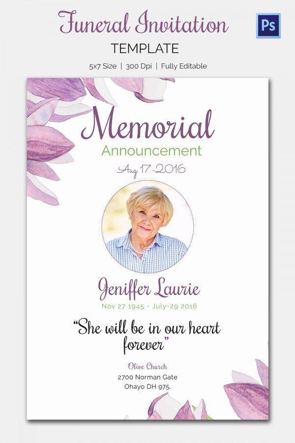 Memorial Card Template Free Download In 2021 Card Templates Free Memorial Cards Funeral Invitation