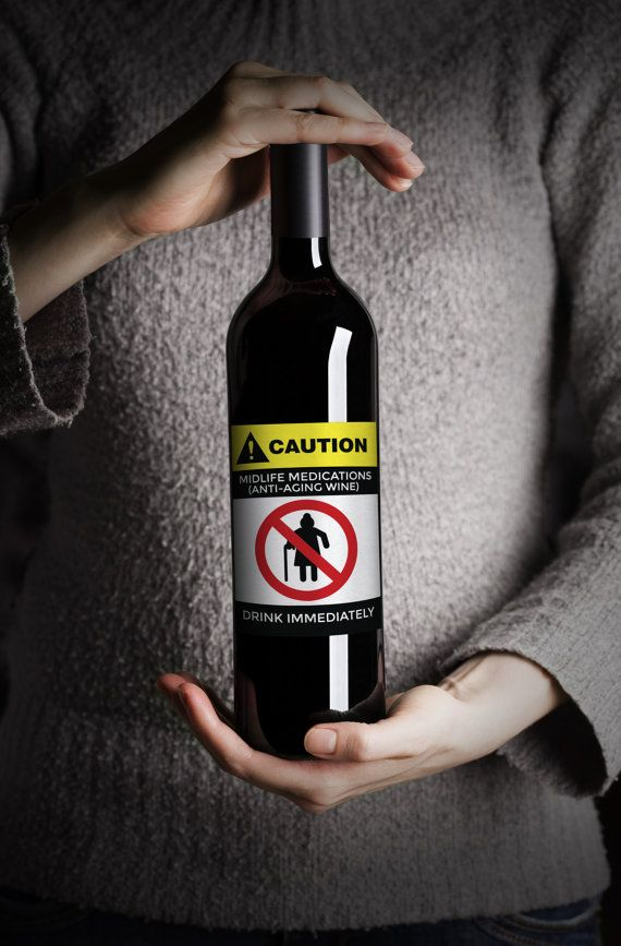 Again >> 4 digital labels, grandma and grandpa Birthday gag gift, wine label, funny label, gift, wine ...