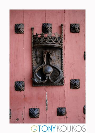 door knocker, door, metal, wood, Henry IV, loire, france, architecture