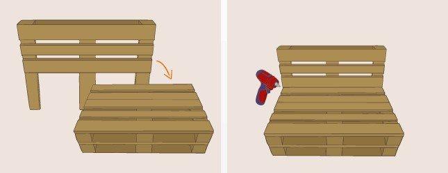 fauteuil en palette plan canape